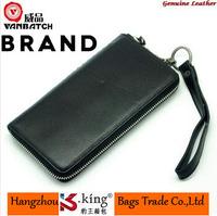 B.King 2014 New Luxury Brand Genuine Leather Sheepskin Desigual Zipper Men Wallets With Strap , High Quality Carteira Masculina