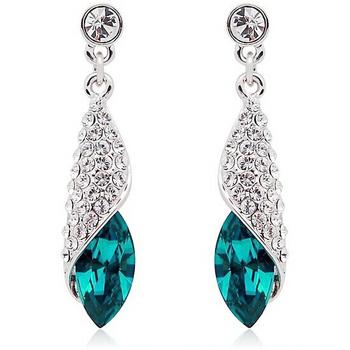 100% ювелирных изделий стерлингового серебра женский раковины синий серьги стерлингового серебра серьги Высокое качество