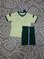 new Free Shipping high quality 2015 14 15 AC Milan away yellow kids Soccer  Jersey  Soccer Shirt.