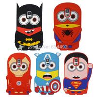 Cartoon Superman Batman Ironman Spiderman Captain America Hero Silicone Case for Samsung Galaxy S5 G900 Back Cover Capa Celular