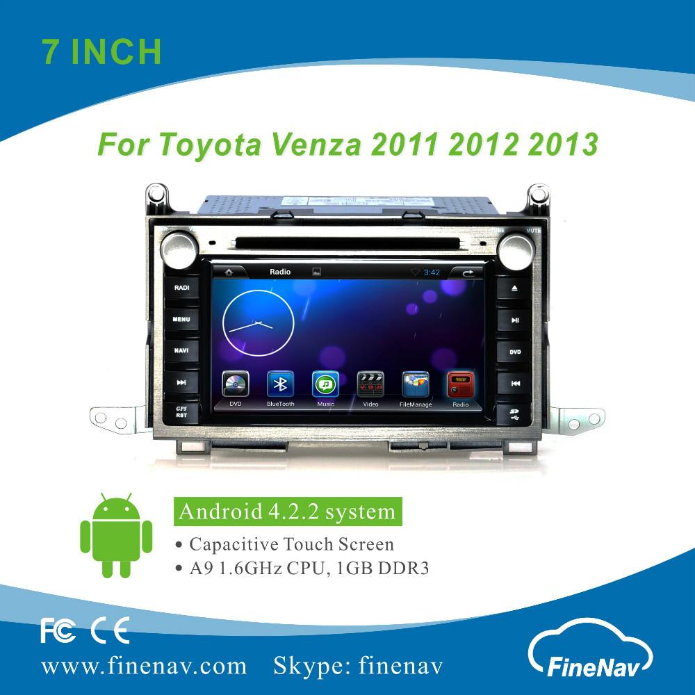 Pura 4.2.2 android del coche reproductor de dvd para toyota venza 2011-2013 con pantalla capacitiva construido- en wifi soporte 3g obd2