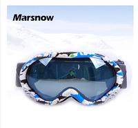 Hot New genuine brand ski goggles double lens anti-fog big spherical professional ski glasses unisex multicolor snow goggles