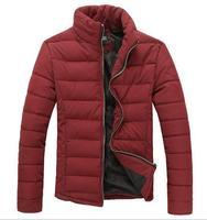 2014 New Winter Man Coats Slim Outwear Thick Jackets Stand Collar Warm Slim Men's Clothing Korean Fashion  Jacket COAT-282985