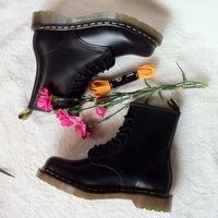Free Shipping Dr. Original Martins 1460 Genuine Leather Women Men Shoes Marten  Boots SIZE 35-45