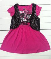 Monster High Lavender Dress 6-14T Brand New High Fashion Quality Kids Girls Summer Dress+Vest Classic Design Free Shipping DA362