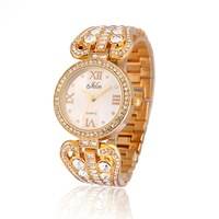 Newest Roman Idex Dial  Women Ladies Girls Crystal Bracelet Fashion Style Analog Quartz  Gift Wrist Watches, 2 Colors Select