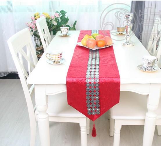 European luxury velvet diamond paste large neoclassical fashion simple table runners crochet table runner(China (Mainland))