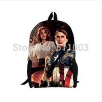 Wholesale 2014 Hot Fashion School Backpacks Cartoon Mochila Backpack Captain America Steve Rogers Men's Backpacks for Children
