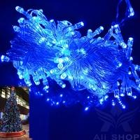 New 10M 100 LED Blue Light Decorative Christmas Party Festival Holiday Twinkle String Lamp Bulb 220V EU Luzinhas De Natal T0199