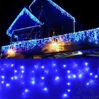 96 LED Curtain Fairy Lights Christmas Garden Lamps Wedding Party Decoration Lights With Tail Plug Blue luzinhas de natal T1101