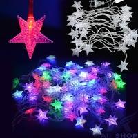 100-240V EU Plug 5M 28 LED Star Light String Fairy Christmas Xmas Party Wedding Decoration LED Lights New Year Pentagram T1404