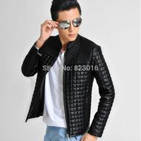 Big Size PU Male Leather Jacket Men Winter Coat Down Jacket  Jaqueta De Couro Masculina Size M-5XL