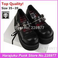 2014 Queencity chain vintage big head shoe hasp japan punk HARAJUKU alice head shoes soft creepers shoes