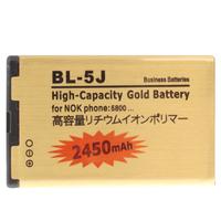 Hot Sale 2450mAh  High Capacity Gold Business Battery for Nokia Lumia 520 525 5800XM 5900XM 5228 5238 X6M N900 C3-00 X1-00 BL-5J