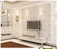 2014 Sale New Tapete Wallpaper for Walls High-grade Non-woven True Plush Velvet Sitting Room Bedroom Wallpaper Deep Color 21203