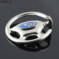 model waist hanged subaru car logo key chain key ring 4 s shop male ladies key chain Christmas Steering wheel  Free shipping