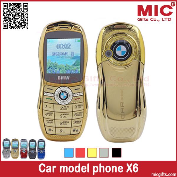 2014 unlock bar cheap luxury small size mini sport cool supercar car key model cell mobile phone cellphone X6 P204(China (Mainland))