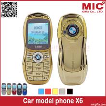 2014 unlock bar cheap luxury small size mini sport cool supercar car key model cell mobile phone cellphone X6 P204