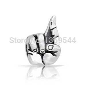 everbling пальцы скрещенными удачи 925 стерлингового серебра Шарм бисера подходят европейские прелести браслет Пандора