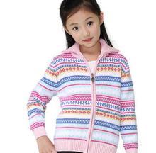 New style girl sweater cardigan coat child sweater long-sleeve sweet knitwear A0769(China (Mainland))