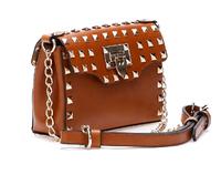 Smilyan 2014 new original design rivet genuine leather small women messenger bags fashion leather women shoulder crossbody bags