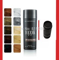 Salon Best Selling Hair Loss Product Concealer Instantly Keratin Fibers Styling Powders 27.5g Toppik Dark Brown/Black 10Colors