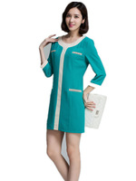 Hot Sale Women Autumn  fresh and elegant  Ol Half Sleeve  Patchwork Casual Dress 1026, Plus Size simple dresses
