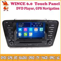 Wince Car Audio Navigation DVD GPS Bluetooth SWC In Dash 2 Din Multimedia HD Touch Screen For VOLKSWAGEN Skoda Octavia 2014 A7