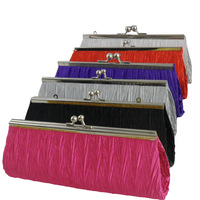 2014 HOT Fashion Ladies Women Girls Satin Bridal Evening Handbag Party Purse Club Clutch Bag Organizer  [JJ218]