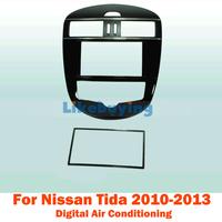 2 Din Fascia Panel / Audio Panel Frame / Dash Kit For Nissan Tida 2010 2011 2012 2013 (Digital air conditioning) Free Shipping