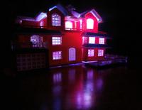 3D Plastic House Kit Palace Construction model villa with led light