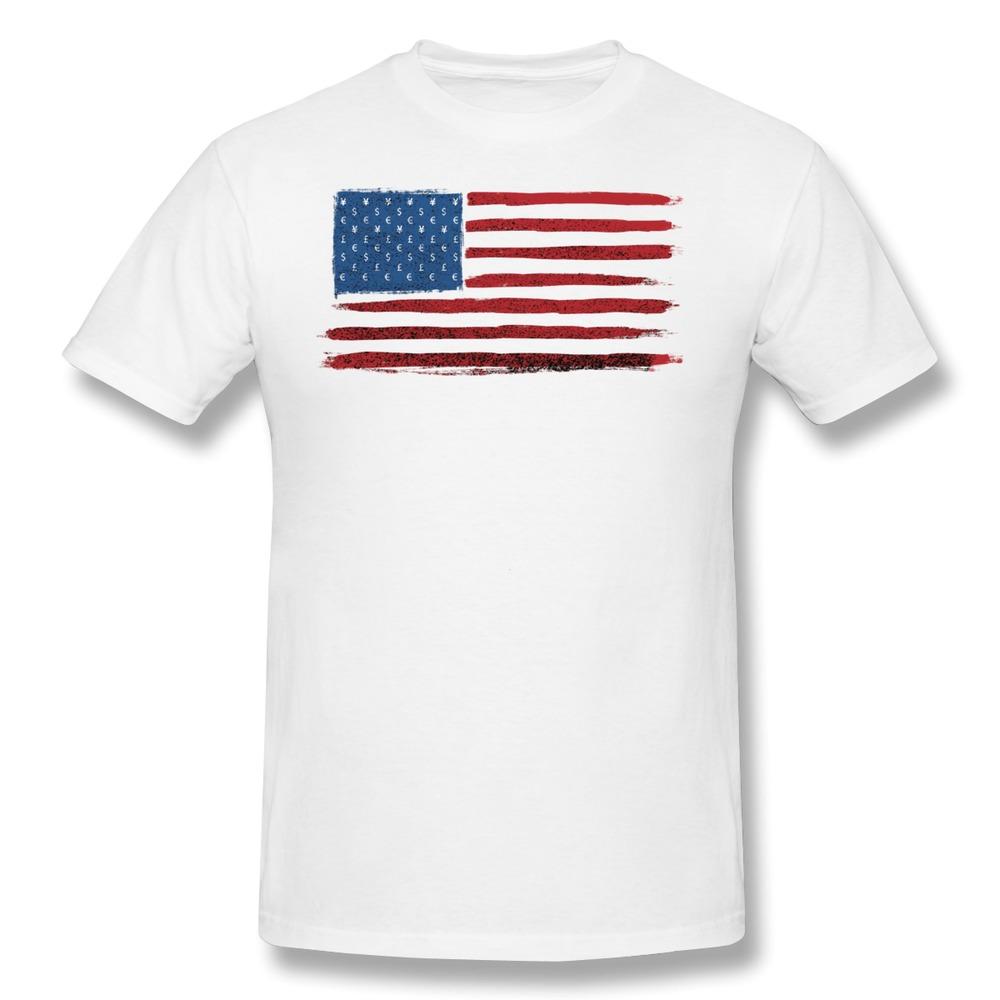 Casual Mans T Shirt Money country Cool Pics American flag USA flag T Shirts Men(China (Mainland))