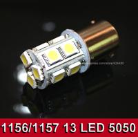 2pcs car light signal lamp ba15s led Light Bulb lamp 13SMD 5050 (1156,Ba15S, P21W, 7506,7507, 380,1141, 5007(R5W),5008)