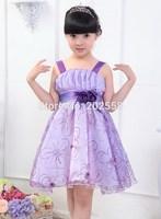 2015 princess summer kids girls dancing clothing Flower children tutu kids Performance dress 110-160cm