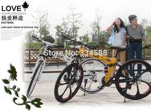 26-inch  mountain bike folding double shock magnesium alloy wheels men models integrally high configuration free shipping(China (Mainland))