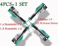 precision screwdriver set Phillips 1.5 /pentalobe 0.8/Pentagon1.2/ T6 screw driver FOR Apple Apple Macbook Air Mobile Special