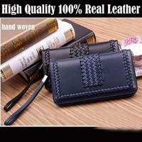 Genuine Leather Men Wallets Card Cash Male Leather Clutch Wallets Change Coin Men Purse Hot Sale 2014 Clutch Wallets