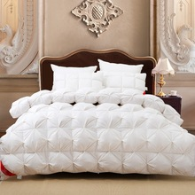 New Specials Multidimensional space Quilt Down Duvet Goose down satin fabric bedding set White Winter quilts Warm Fluffy soft (China (Mainland))