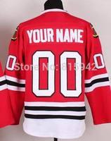 Customized Blackhawks Home Red Stitched Personalized Ice Hockey Jerseys Custom Made cheap