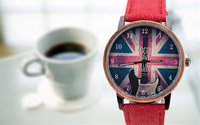 The new summer  cortical leisure  watches a British flag guitar relogio feminino  Men women quartz watches