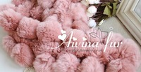 2014 Free shipping fashion rex rabbit hair scarf rex rabbit ball fur scarf