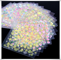 2014 New 50 Sheet 3D Design Nail Art Tip Sticker Decal Manicure Nails Decoration Tools Mix Color Flower NA988