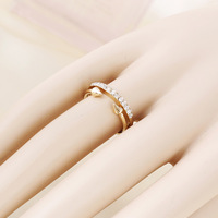 Environmental material women's fashion gold/silver irregular  ring fashion brand style multi-layers rivet ring parties