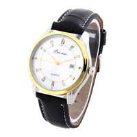 1pcs PU Leather Fashion Watches Men Quartz Watch Beinuo Wristwatches New Promotion