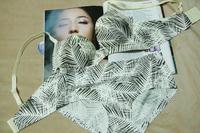 Add 2 Cups Weed Leaf Print Love Angel Seamless BRA and Brief Set Women Intimate Push Ups Underwear
