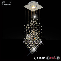 NEW 2014 modern led crystal lamps aisle high power crystal pendant lights