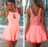 #XP Retail&Wholesale Solid Color Women Sexy Dress Ladies Evening Party Summer Dresses Celeb Lace Playsuit S M L XL