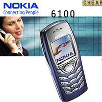 Original Nokia 6100 original unlocked GSM mobile phone Support Russian keyboard Polish Hebrew Menu Free Shipping  refurbished