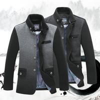 High quality brand man woolen jacket gradient color slim men wool coat plus size business jackets autumn winter  jacket  M-3XL