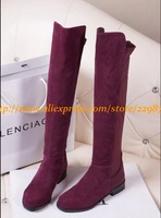 Hot! Women Autumn Winter Brand High Leg Cowhide Leather Fashion Boots,Lady Over-Knee Genuine Leather Strench Boots(more colors)